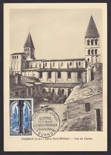 France 1954 stamp TOURNUS Yvert# 986 on FDC Maximum card...................X1147