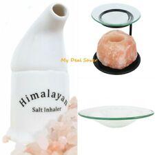 Himalayan Natural Salt Lamp Tealight Holder Oil Burner Yankee Candle Tart Warmer