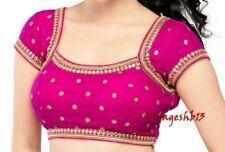 Readymade Saree Blouse,Designer Kundan Work Blouse, Party Wear Sari Blouse