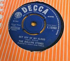 "THE ROLLING STONES~GET OFF MY CLOUD~F .12263~1965 UK 7"" SINGLE"