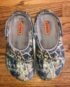Crocs Realtree Xtra Camo Clog Men size 6 Women size 8 Comfort