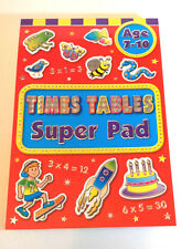 TIMES TABLES SUPER PAD Childrens Learning Fun 7-10 yrs old MATHS PRACTICE PUZZLE