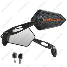 MIRRORS MIRROR STREET CARBON LOOK ORANGE LOGO HONDA CB 600 F HORNET CB600F ABS
