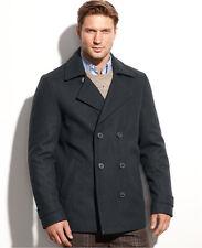 $325 NWT Men's Calvin Klein Charcoal/Medium Grey Wool Peacoat XL