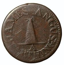 1780 Great Britain Lanarkshire James Angus Farthing Conder Token DH-20