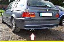 Chrom BMW E46  3er 318 320 323 325 328 Auspuffblende  aus Edelstahl