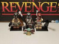 Mandalorians lot of 3 & Baby Yoda minifigure clone troopers Star Wars
