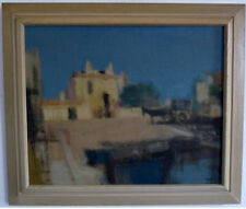 Mediterranean City Scene with Donkey Cart, Middle 20th Century