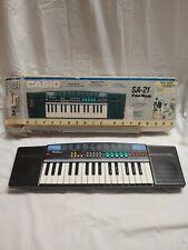 Vintage Casio Sa-21 Tone Bank Electronic Keyboard 1990's