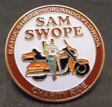Bahia Shrine, Sam Swope, Orlando, Fl, Charity Ride, Lapel or Hat Pin, Motorcycle