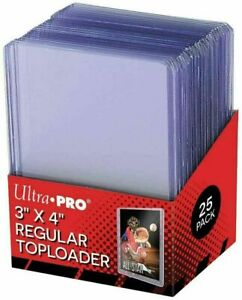 """New 50pcs Ultra PRO Top Loaders Cards Sleeves Toploaders Topload 3x4"""" 35pt"""