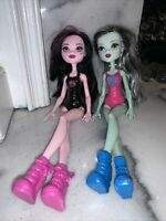 Monster High How Do You Boo? Ghoul Spirit Draculaura & Frankie Stein Lot of 2