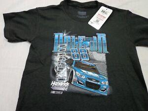 DALE JR Hendrick Motorsports Racing  Nascar   Black  T-Shirt  Youth Small  New