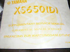 YAMAHA  XS650D SUPPLEMENTARY SERVICE MANUAL  (FIRST EDITION SEP 1979)