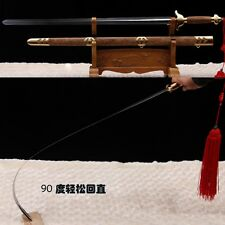 """Stainless Steel Hand Forge Chinese Sword """"Tai chi JIAN """"(劍) Good Elasticity-0228"""