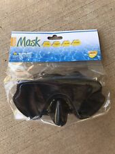 Adult Swimming Goggles In Black, Adjustable Strap, Latex Free, Pc Lens