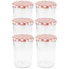 Einmachgläser 435 ml Schraubdeckel rot Marmeladengläser Sturzgläser Einweckglas