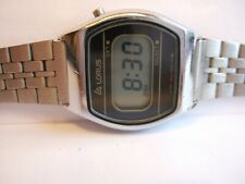 VERY RARE Vintage Women's Lorus by Seiko Y800-5010 S.Steel LCD DIGITAL Watch!