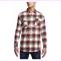 Men's Weatherproof Vintage Flannel Button-Up Long Sleeve Shirt