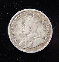 1917C NEWFOUNDLAND GEORGIUS 10 CENTS SILVER COIN!  ZZ247XXX