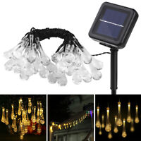 30LED Solar String Lights Waterproof 6.5M Wire Fairy Hanging Lamp Outdoor Garden