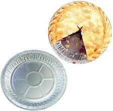 100 x Round Aluminium Foil Dishes 6.5 Inch Pie Plates Fruit Meat Pies Baking