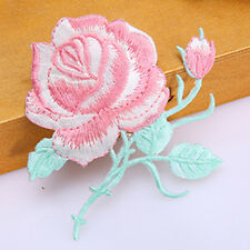 Rose Flower Embroidery Iron On Applique Patch  F#V