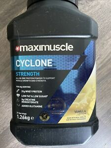 Maximuscle Cyclone All-in-One Protein Powder for Strength in Vanilla 1.26kg