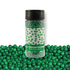 PME Cake Cup Cake Icing Decoration Sugar Pearls Green (100g / 3.5 oz)
