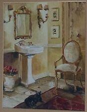BATHROOM WALL ART SIGNED BY MARILYN HAGEMAN
