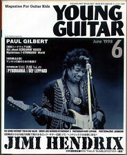 Young Guitar Jun/98 Jimi Hendrix Paul Gilbert Eric Johnson Def Leppard Van Halen
