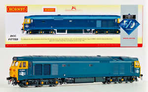 HORNBY 00 GAUGE - R3571 - BR BLUE CO-CO DIESEL CLASS 50 'D400' DCC FITTED BOXED