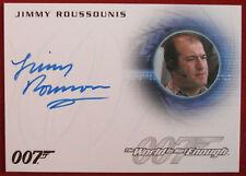 JAMES BOND - The World Is Not Enough - JIMMY ROUSSOUNIS - Autograph Card A287