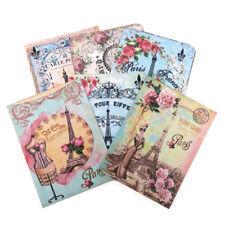 NEW Paris Eiffel Tower Retro Note Cards- Birthday-High Tea-Vintage Variety of 6
