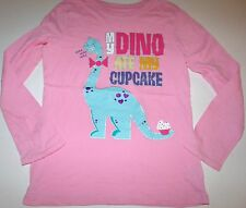 The Children's Place Pink My Dino Ate My Cupcake Top Long Sleeves 7 8 Lot G7