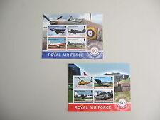 MONTSERAT,Twee blokjes, 90 Jr Royal Air Force, 2008, postfris/MNH