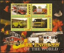 SIERRA LEONE 2005 FIRE ENGINES Sheetlet of 4v No 1 MNH