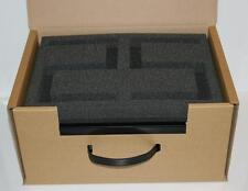 More details for 5 x pick n pluck packaging foam inserts + corrugated carry case / storage box