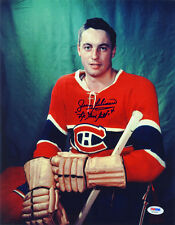 Jean Beliveau SIGNED 11x14 Photo Canadiens Habs PSA/DNA AUTOGRAPHED