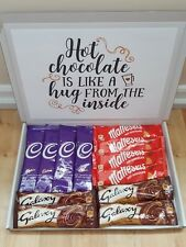 HOT CHOCOLATE CHRISTMAS BIRTHDAY SELECTION BOX GIFT HAMPER PERSONALISED THANKS