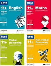 Bond 11+ Assessment Papers 4 Books Set 8-9 Y: English Maths Verbal & Non-verbal