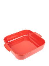 PEUGEOT - Plat four céramique carré rouge 36 cm - 14' Appolia
