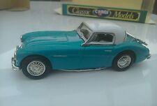 1:43 Corgi Turquoise  Austin Healey Hard Top Rare Model Car Mint Boxed 96200