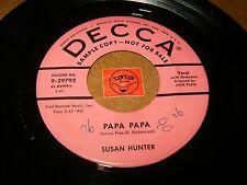 SUSAN HUNTER - PAPA PAPA - ICICLE   / LISTEN - GIRL POPCORN