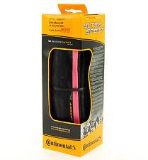 Continental Ultra Sport 2 Road Bike Tire, Pink/Black, 700x25, Folding