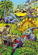 Tableau à colorier en velours - Triceratops Météorite - Neuf