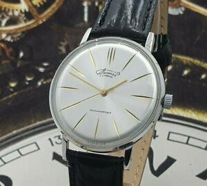 Vimpel - Poljot De Luxe ULTRA SLIM Dress Men's WristWatch Vintage Style USSR