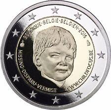 Belgien 2 Euro Organisation Child Focus Gedenkmünze 2016 Polierte Platte im Etui