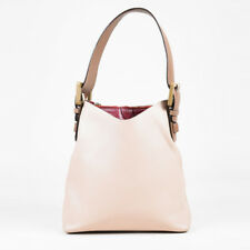 Marc Jacobs Beige Taupe & Red Leather Top Handle Hobo Bag