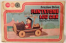 THE FLINTSTONES : FRICTION DRIVE FLINTSTONE'S LOG CAR BY MARX TOYS 1977 (MLFP)